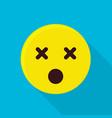 dead emoticon icon flat style vector image vector image