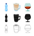 design of drink and bar symbol set of vector image vector image