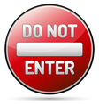 Do not enter - one way vector image vector image