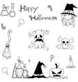 Doodle of Element Halloween for kids vector image vector image