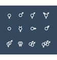 Gender symbol icon set vector image