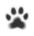 halftone paw print vector image vector image