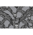Halloween seamless pattern with hand drawn graphic vector image