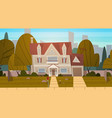 house building suburb of big city in summer vector image vector image