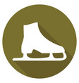 icon ice skates with a long shadow vector image vector image