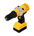isometric cordless drill screwdriver with drill vector image