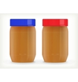Jars of peanut butter vector image vector image