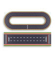 kart race background top view line asphalt and vector image