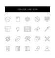 line icons set college pack vector image vector image