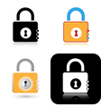 lock icons vector image vector image