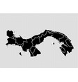 panama map - high detailed black map with vector image vector image