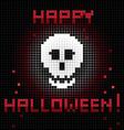 pixel halloween skull vector image vector image
