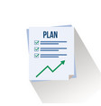 plan flat design vector image
