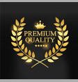 premium quality label vector image vector image