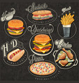 retro vintage style fast food designs vector image