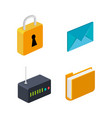router folder email security connection technology vector image