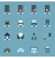 Server Hosting Icons Flat vector image