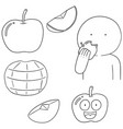 set of apple vector image
