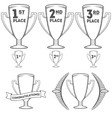 Set of cups and crowns vector image vector image
