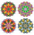 Set of four mandalas vector image