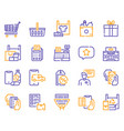 shopping items color icons set vector image vector image