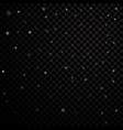 silver stars black night sky on transparent vector image vector image