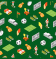 soccer sport game signs 3d seamless pattern vector image vector image