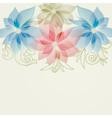 Spring floral background in pink and blue vector image vector image