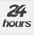 sticker 24 hours isolated on a transparent vector image