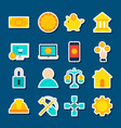stickers cryptocurrency vector image