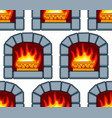 stone fireplace pattern vector image vector image