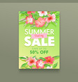 summer sale concept tropical ad poster vector image vector image
