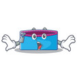 surprised pencil case character cartoon vector image