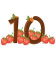 Ten strawberries vector image vector image
