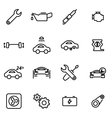thin line icons - car vector image vector image