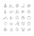 Thin line yoga icons set health life vector image vector image