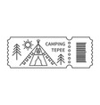 ticket with barcode with tepee vector image