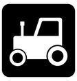 Tractor button vector image vector image