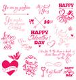 valentine day calligr 7 380 vector image vector image