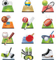 vector sport icon set vector image vector image