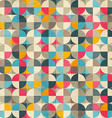 vintage circles seamless pattern vector image