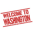 welcome to washington stamp vector image vector image