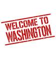 welcome to washington stamp vector image