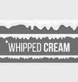 whipped cream pattern white creamy swirl vector image vector image
