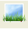 window with grass vector image