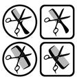 hairdresser symbols vector image