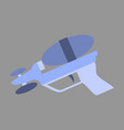 icon in flat design toy gun vector image