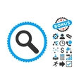 Search Flat Icon with Bonus vector image