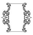 decorative frame floral border cute image vector image