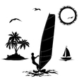 Set of elements vacation in the tropics vector image